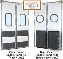 Superior impact resistant traffic door