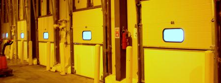 Knockout Bottom Cold Storage Breakaway Doors