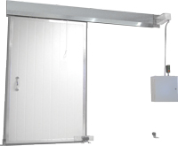 "Single panel sliding door Model Slider III (3"" thick)"